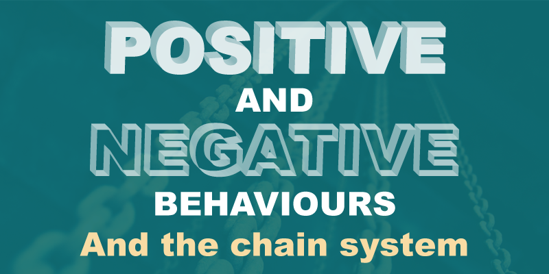 Positive and negative behaviors and the chain system
